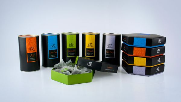 Dina Tea packaging by Olesya Kurulyuk, via Behance
