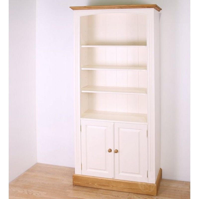 Solid Pine Painted 79x48 Cupboard Bookcase Bookcases Office Furniture4yourhome