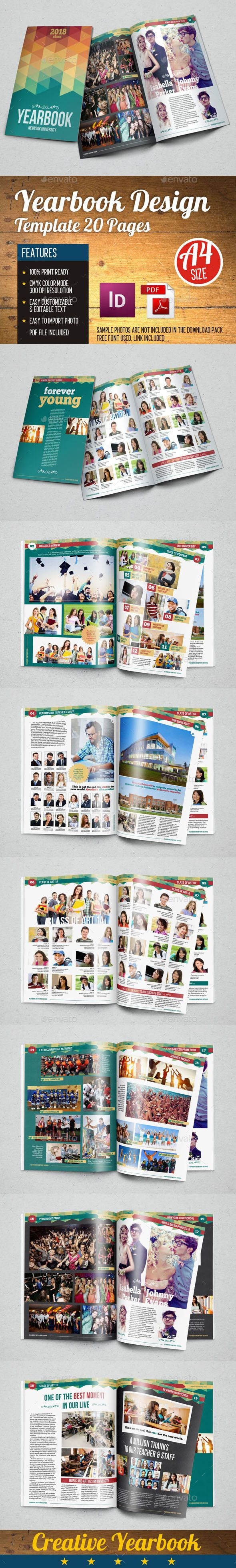 YearBook Template InDesign INDD #design Download: http ...
