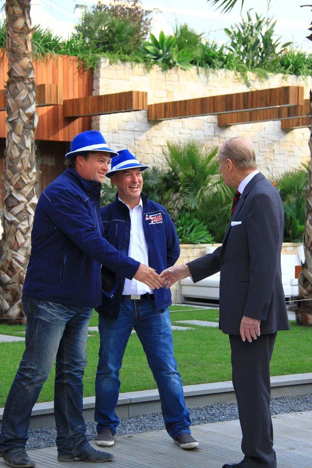 Chelsea Garden Show....Jason Hodges (my bro) shaking hands with Prince Phillip