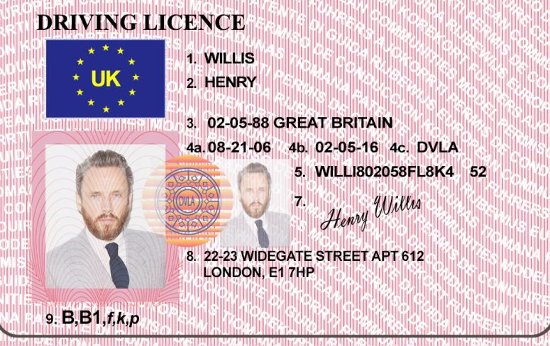 Hq Edited Uk Driver S License Bypass Verifition Drivers License Birth Certificate Template Birth Certificate