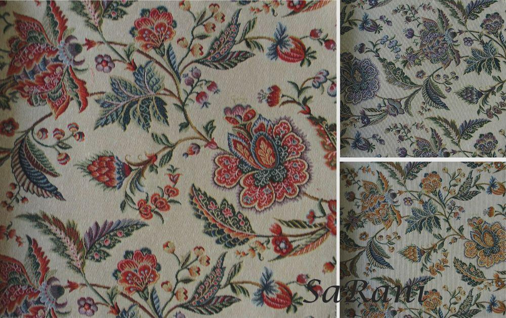 tessuto per tappezzeria Gobelin fiori largh. mt. 2,80 stoffa ...