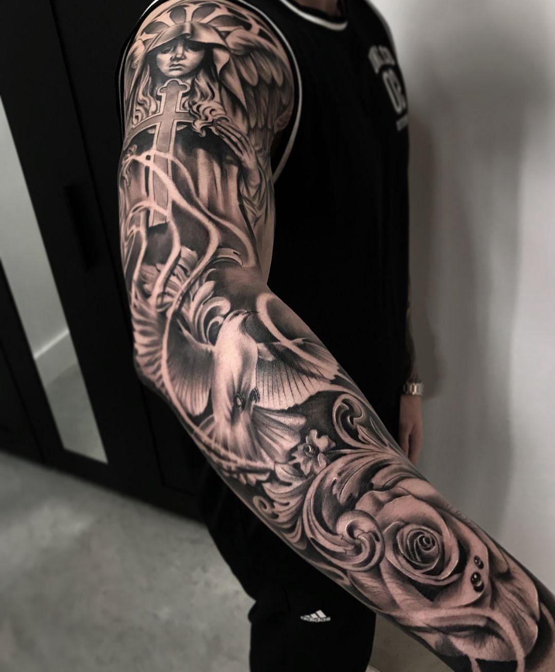 B G Tattoo Artwork Artist I Tattoos For Guys Tattoo Sleeve Men Sleeve Tattoos
