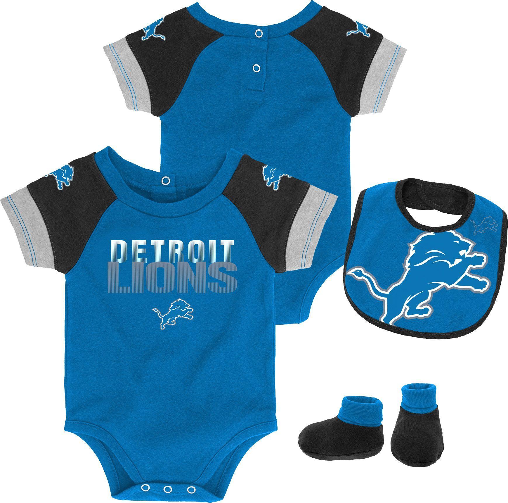 3c958e80f4f Team Apparel Infant Detroit 50-Yard Onesie Set