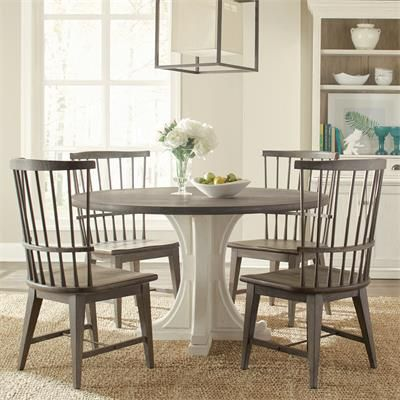 Riverside 44451 Juniper Round Pedestal Dining Table Discount Furniture At  Hickory Park Furniture Galleries