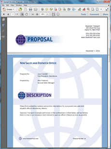 The New Sales Office Sample Proposal Is One Of Many Sample Business  Proposals Included With Proposal Pack Proposal Templates And Proposal  Software Products.  Product Sales Proposal Template