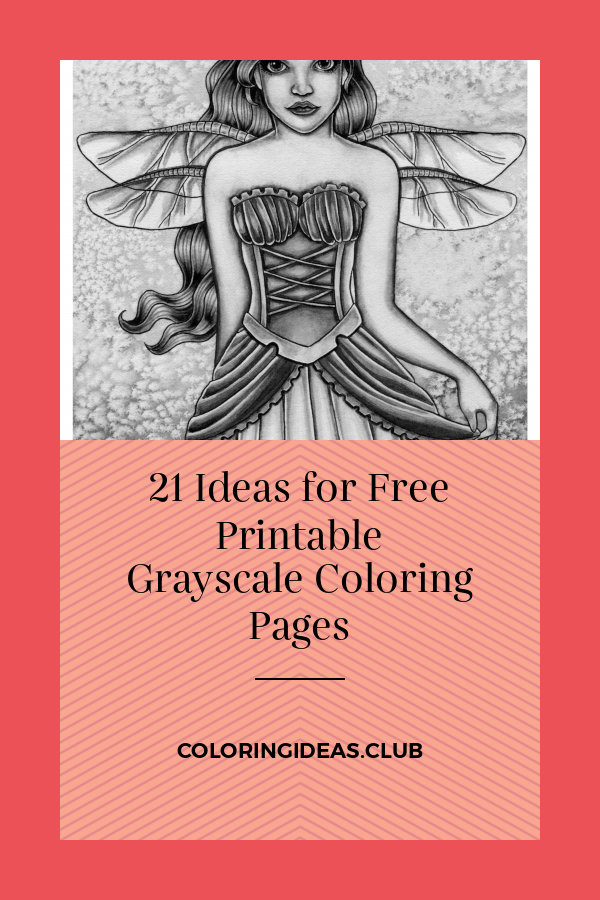 This is a picture of Free Printable Grayscale Coloring Pages for high quality