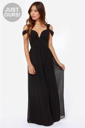 e0090d8b580 Elegant Black Dress - Maxi Dress - Prom Dress - Bridesmaid Dress -  81.00