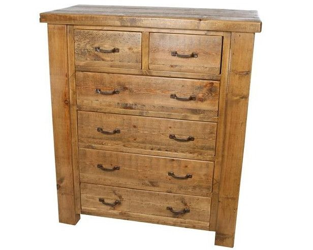 Tall Reclaimed Wood Bedroom Chest of Drawers