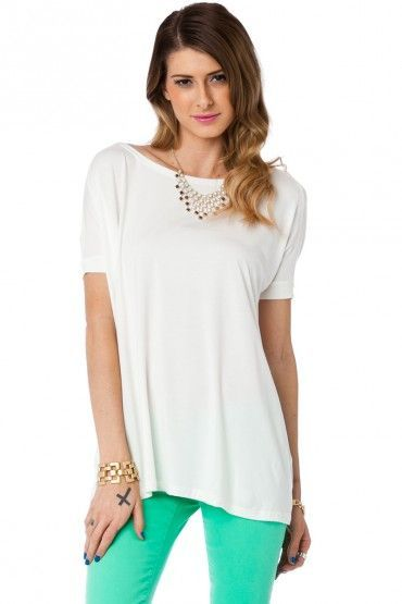 Cozy Short Sleeve Tee in Cream by Piko