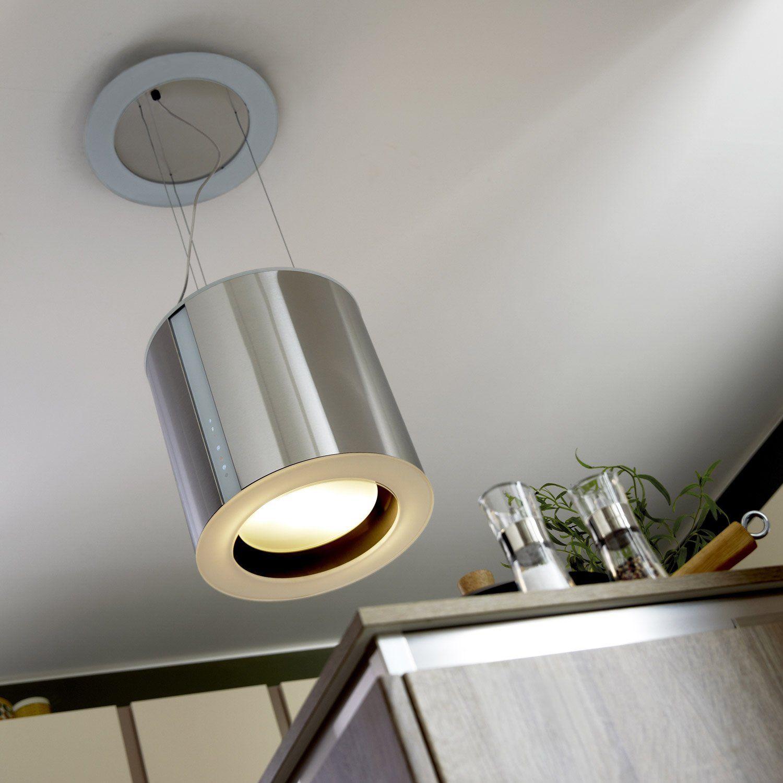 hotte d corative ilot l40cm cata moon leroy merlin. Black Bedroom Furniture Sets. Home Design Ideas