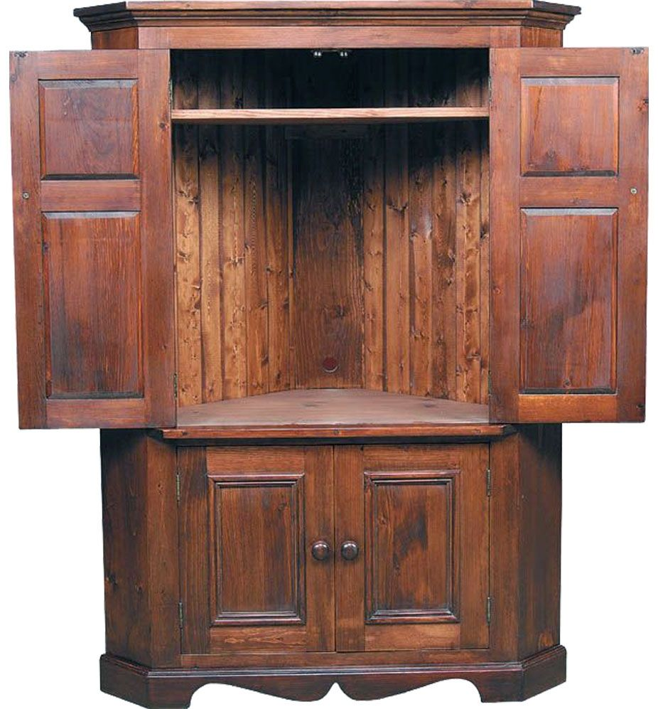 Delicieux Corner Tv Armoire With Pocket Doors