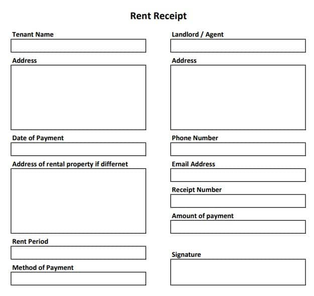 Free Rent Receipt Template 3 Templates In Excel And Word In 2020 Receipt Template Bookkeeping Templates Accounting Basics