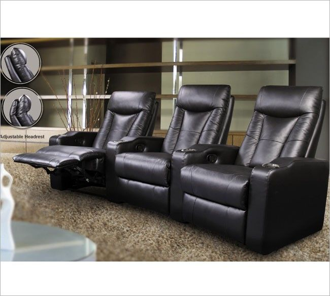 3 Seated Theatre Recliners   Coaster The 3 Seated Theatre Recliners From  Coaster Are A Great Addition To Any Entertainment Room. The Chairs Have Top  Grain ...
