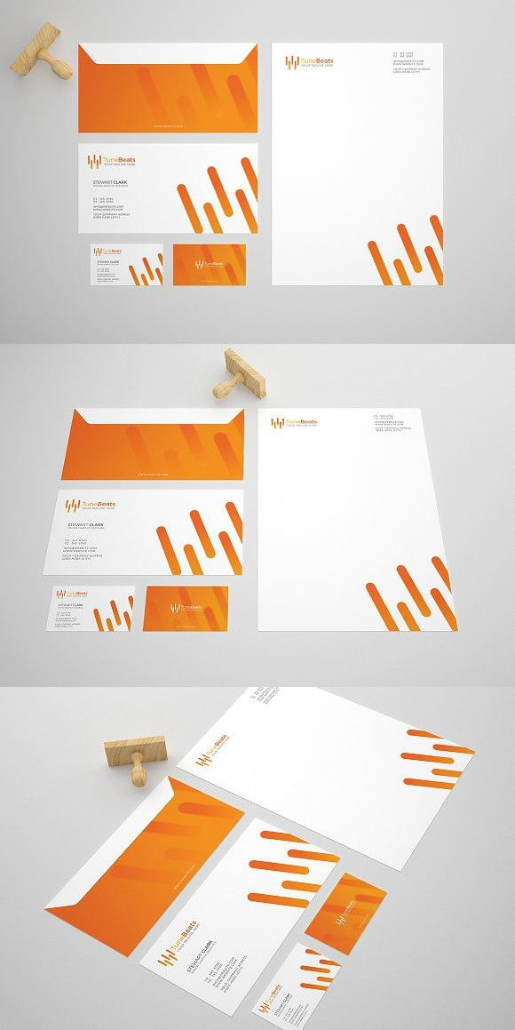 tune beat stationery design template creative business card