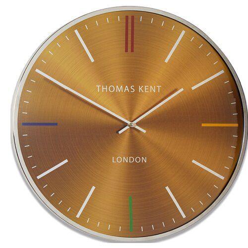 Hargett 40cm Wall Clock Brayden Studio Colour: Yellow
