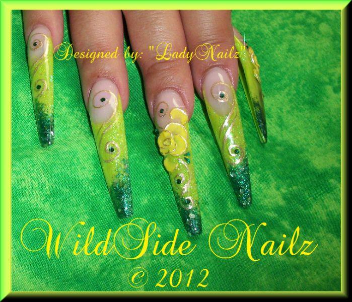 Wild Side Nailz-lime green