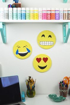 DIY Emoji Cork Boards (IKEA Hack images