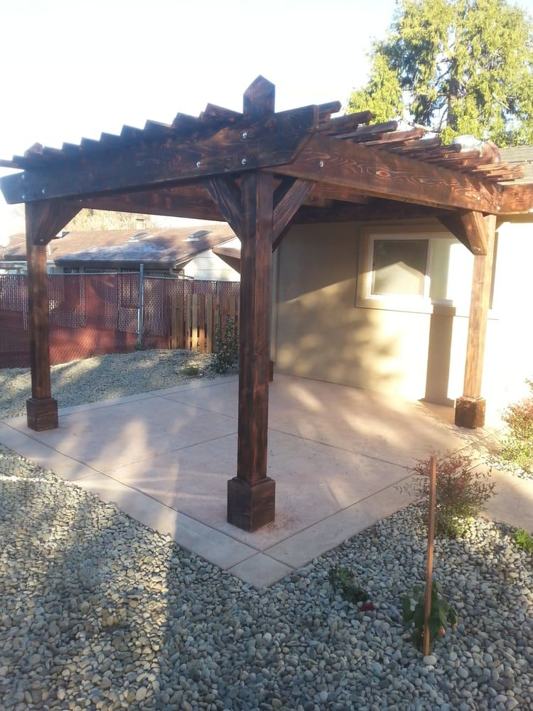 Photo of One Stop Landscaping - Elverta, CA, United States. Redwood pergola  built - Photo Of One Stop Landscaping - Elverta, CA, United States. Redwood
