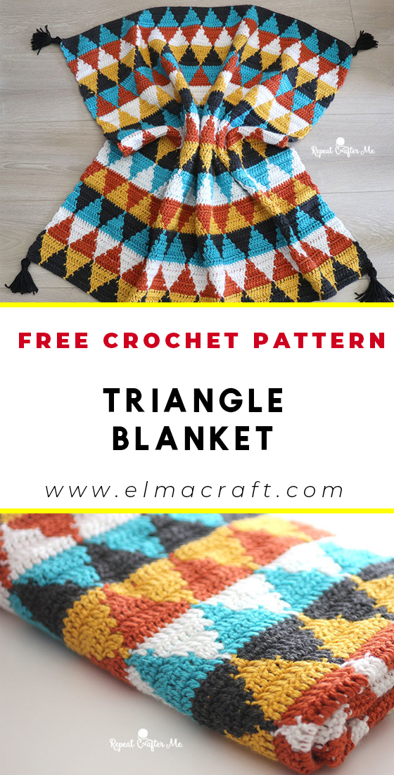 Crochet Triangle Blanket KOSTENLOSES Muster - KOSTENLOSES Häkel-Babydeckenmuster für ... #crochet patterns for beginners blanket how to make