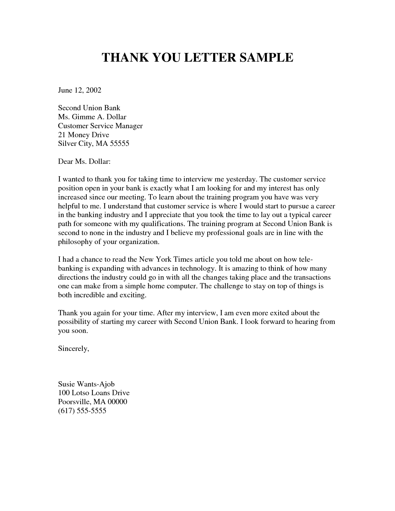 Thanking Letter Format Best Template Collection Thank You Letters