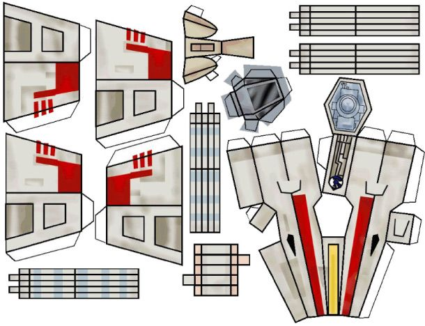 star wars x wing papertoy juguetes alas y hijos. Black Bedroom Furniture Sets. Home Design Ideas