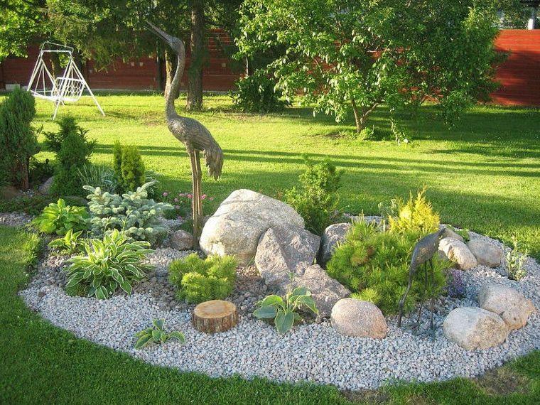 Piedras Decorativas Para Jardin Ideas Originales Piedras Decorativas Para Jardin Jardines Jardineria De Ladera