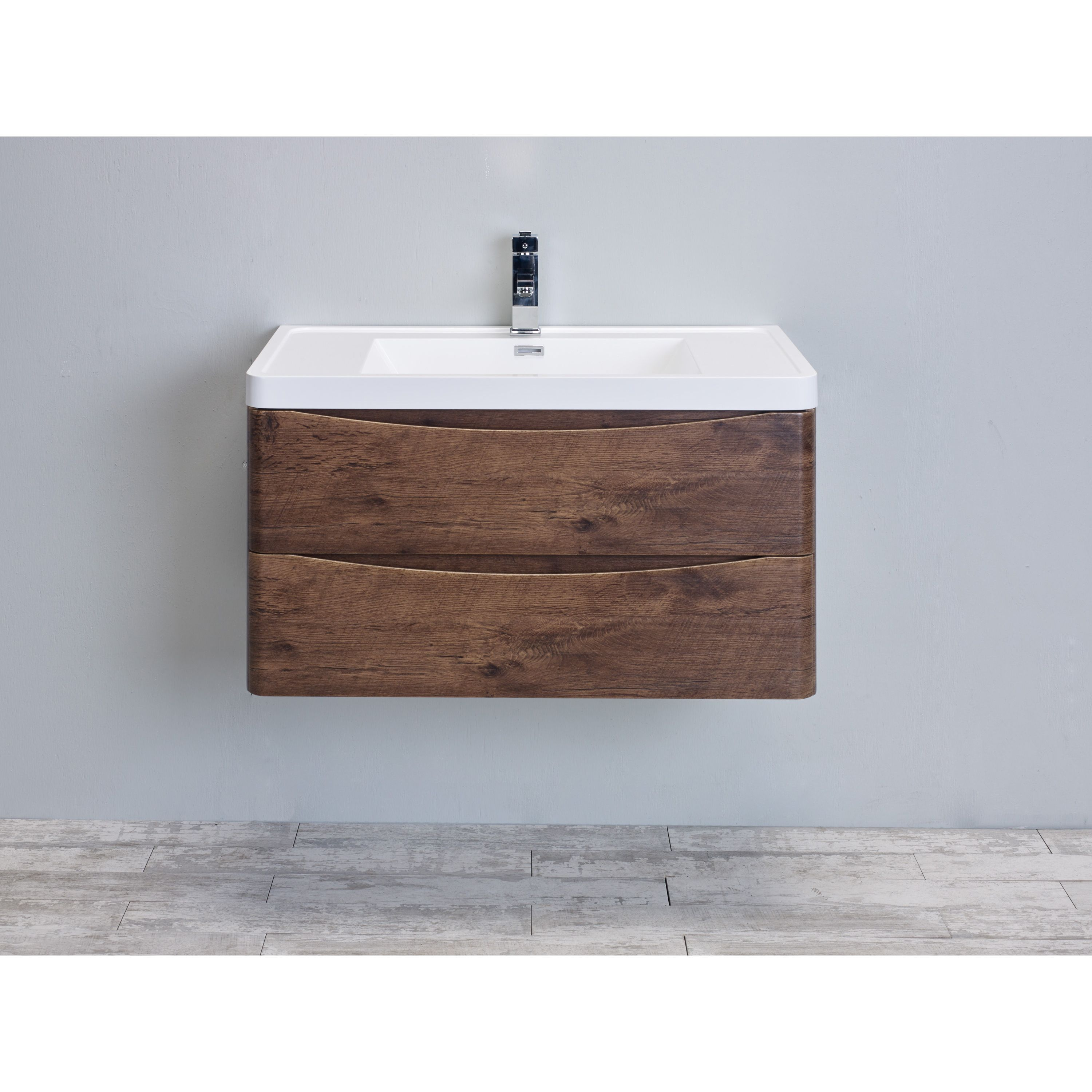 Eviva smile inch rosewood modern bathroom vanity set with