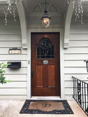 Before And After: Exterior Door Restoration With Leaded Glass Window  #materialsunlimited