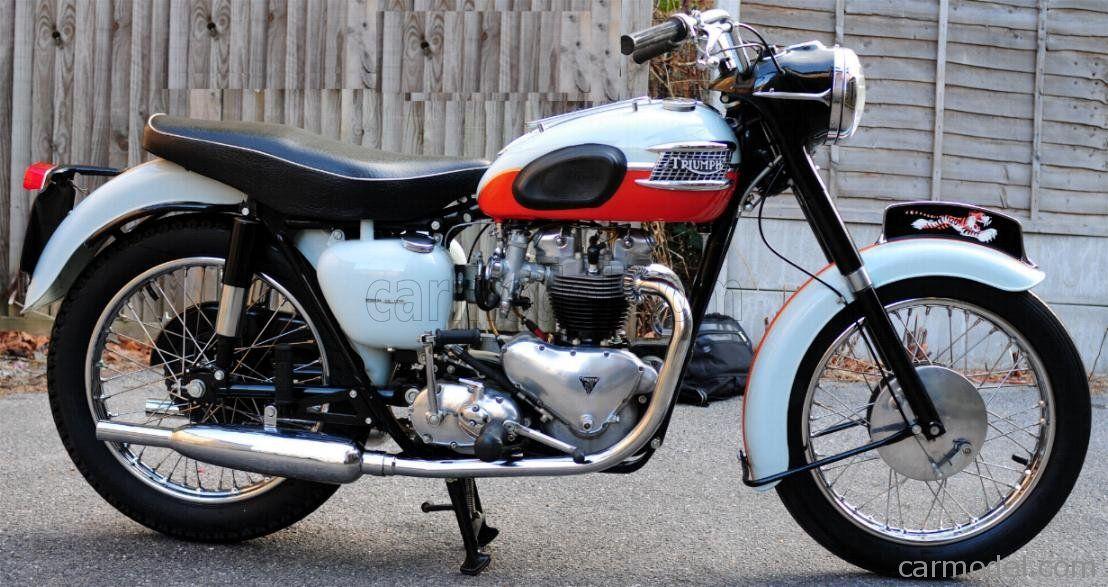 Vintage Motor Brands B02 Scale 1 6 Triumph Bonneville T120r Tangerine 1959 White Red Triumph Bonneville Triumph Triumph Motorcycles