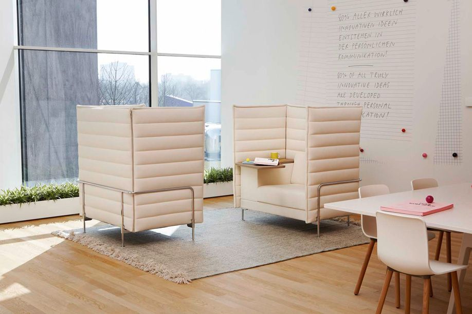 alcove office. thanks to its high back the alcove sofa by ronan u0026 erwan bouroullec creates a room within office pinterest and workplace design