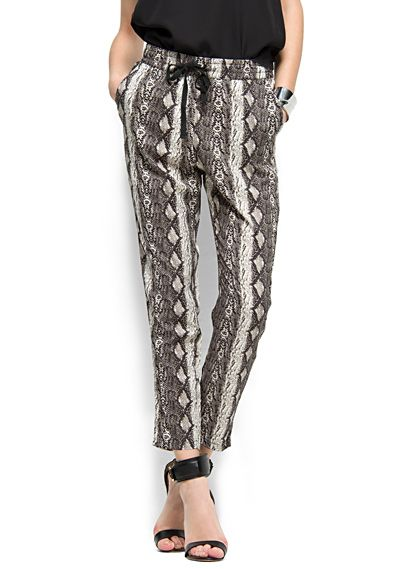 MANGO - CLOTHING - Snake print trousers
