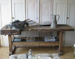 Stoere Werkbank Keuken : Buitenkeuken gemaakt van oude werkbank old basics
