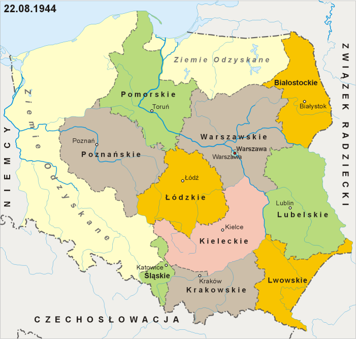 Designated borders and administrative divisions of Poland as of