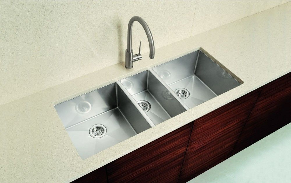Great Triple Bowl Kitchen Sink U2013 Nothing Will Give You A Cleaner Line And A  Cleaner Countertop Than Undermount Sinks. Without The Sink Lip Of The  Countertop, ...