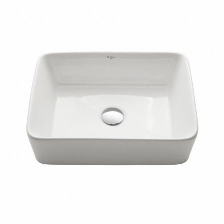 Kraus Rectangular Ceramic Vessel Bathroom Sink in White in 2018