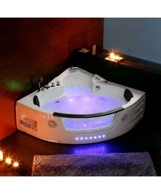 Baignoire Balneo D'Angle Jasmine Whirlpool Pack Luxe | Bathtub