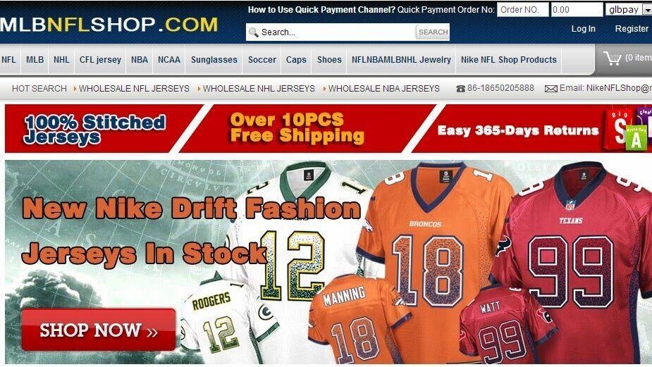 Wholesale NFL MLB NHL NBA Jerseys TOP Quality Factory Price PayPal Free  Ship 1d45729a2ec4