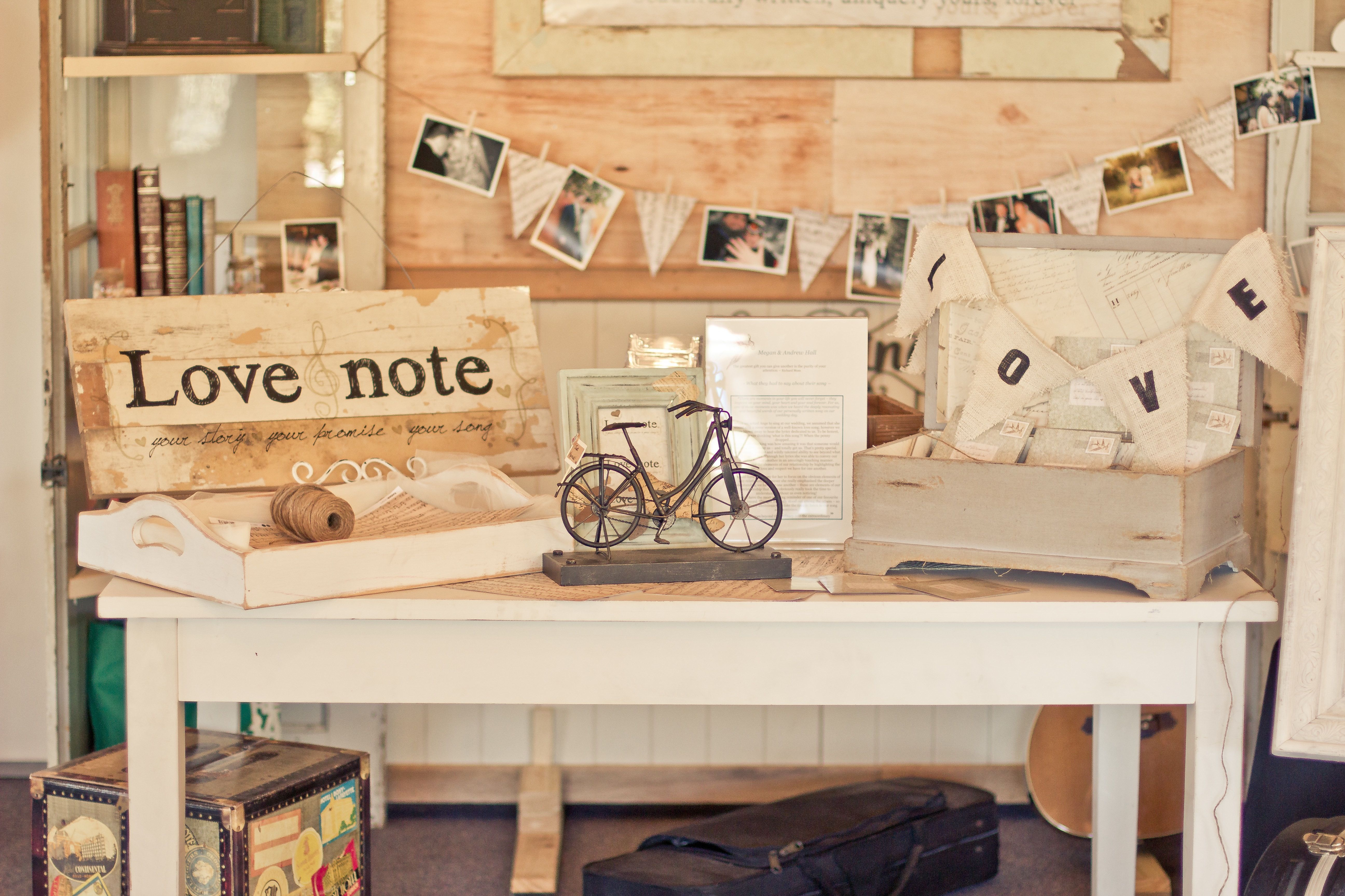 Exhibition Stand Vintage : Love note wedding expo stall retro spin on a recycled