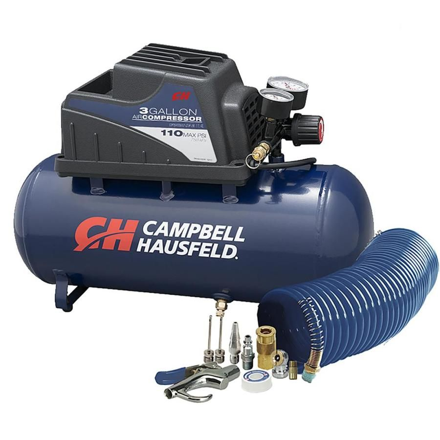 Campbell Hausfeld 3 Gallon Single Stage Portable Electric Horizontal Air Compressor Lowes Com Best Portable Air Compressor Electric Air Compressor Portable Air Compressor