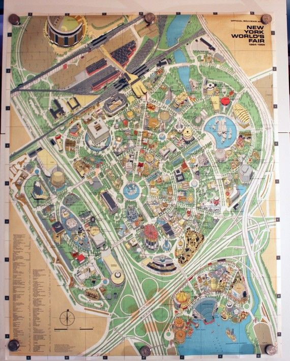 Vintage 1964-65 World's Fair Map | World's fair, Map, Map art on world cotton centennial map, ny world fair pavilion map, world fair site map, seattle center map,