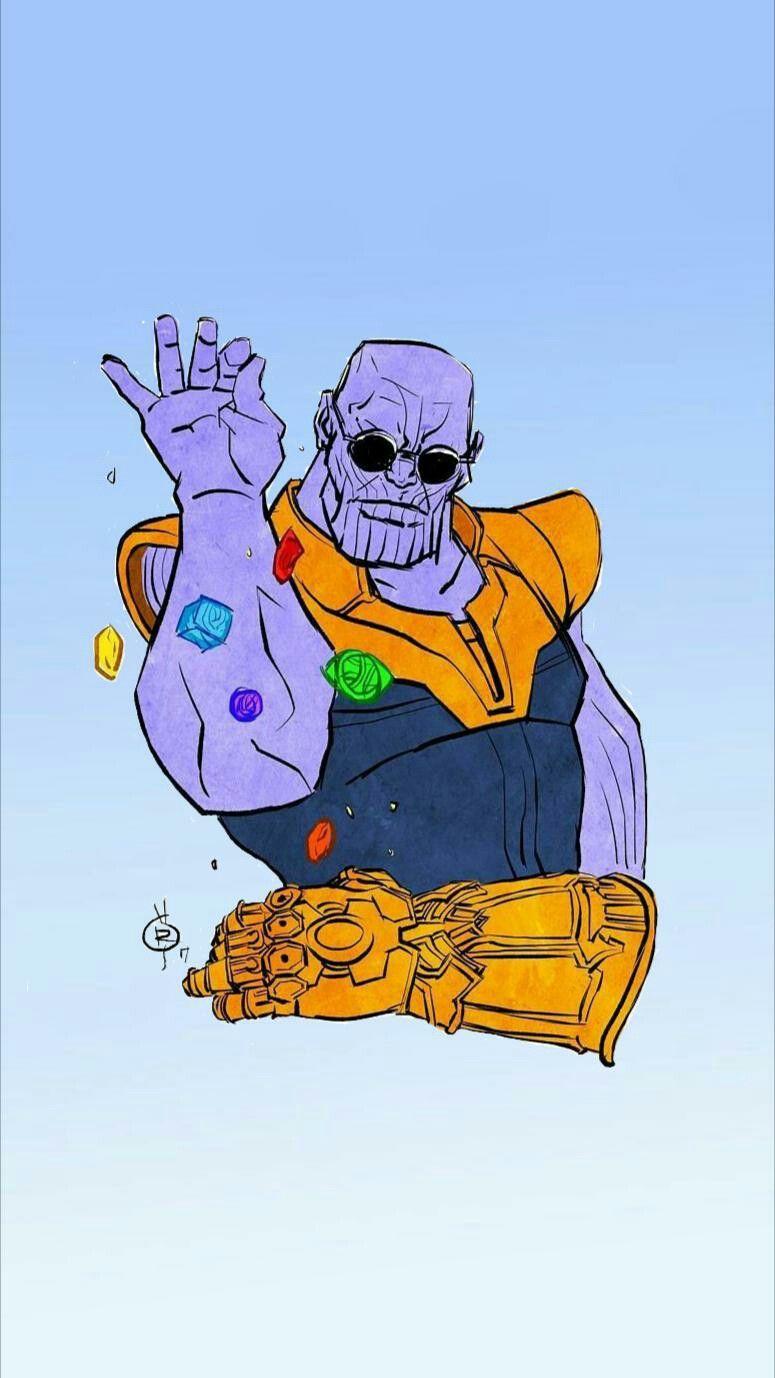 Thanos Salt Bae Not My Artwork With Images Cartoon Wallpaper