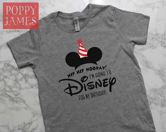 Taking Your Kiddo To Disney For Their Birthday This Tee Is The Perfect Finishing Touch Trip Shown On A Gray VINYL COLORS Vinyl