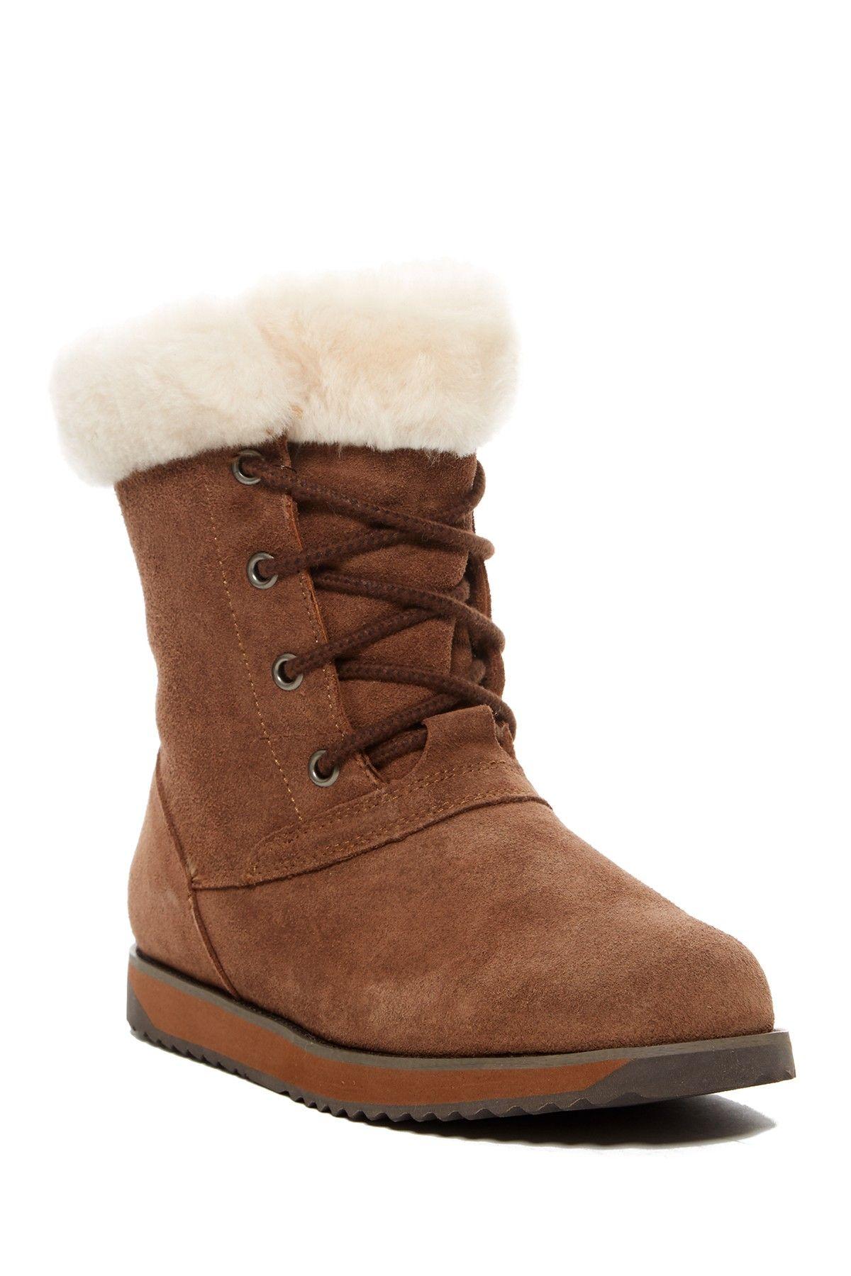 c5fd1a6352c EMU Australia | Shaw Lo Genuine Sheep Fur Lace-Up Boot | Products ...