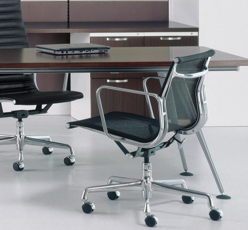 mfr herman miller style eames aluminum group management chair