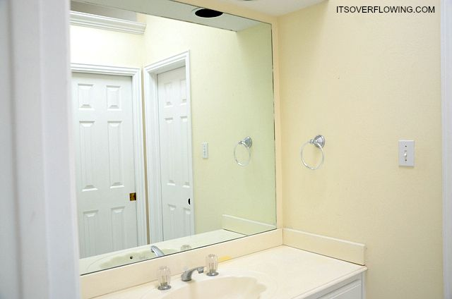 How to Add Trim to a Mirror | Tutorials & DIY | Pinterest | Bathroom Add Trim To Bathroom Mirror on wall trim, bathtub trim, bathroom wall ideas pinterest, bathroom mirrors with lights, door trim, bath trim, bathroom base molding, bathroom decor, tub trim, glass trim, floor trim, bathroom sconces and mirrors, dresser trim, bathroom shaving mirrors, bathroom vanity mirrors, bathroom mirrors product, bathroom installation, window trim, bathroom vanities, bathroom tile,