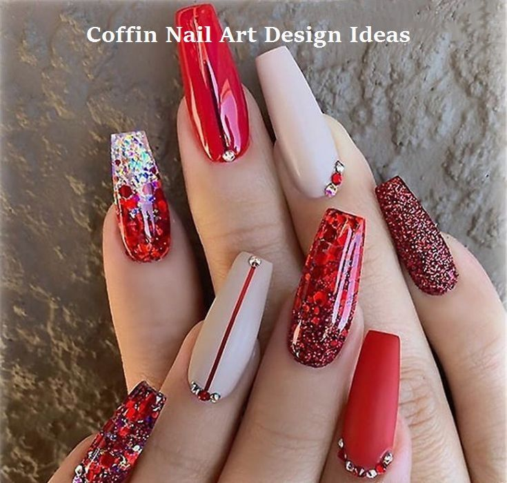 20 Trendy Coffin Nail Art Designs coffinnail nailideas