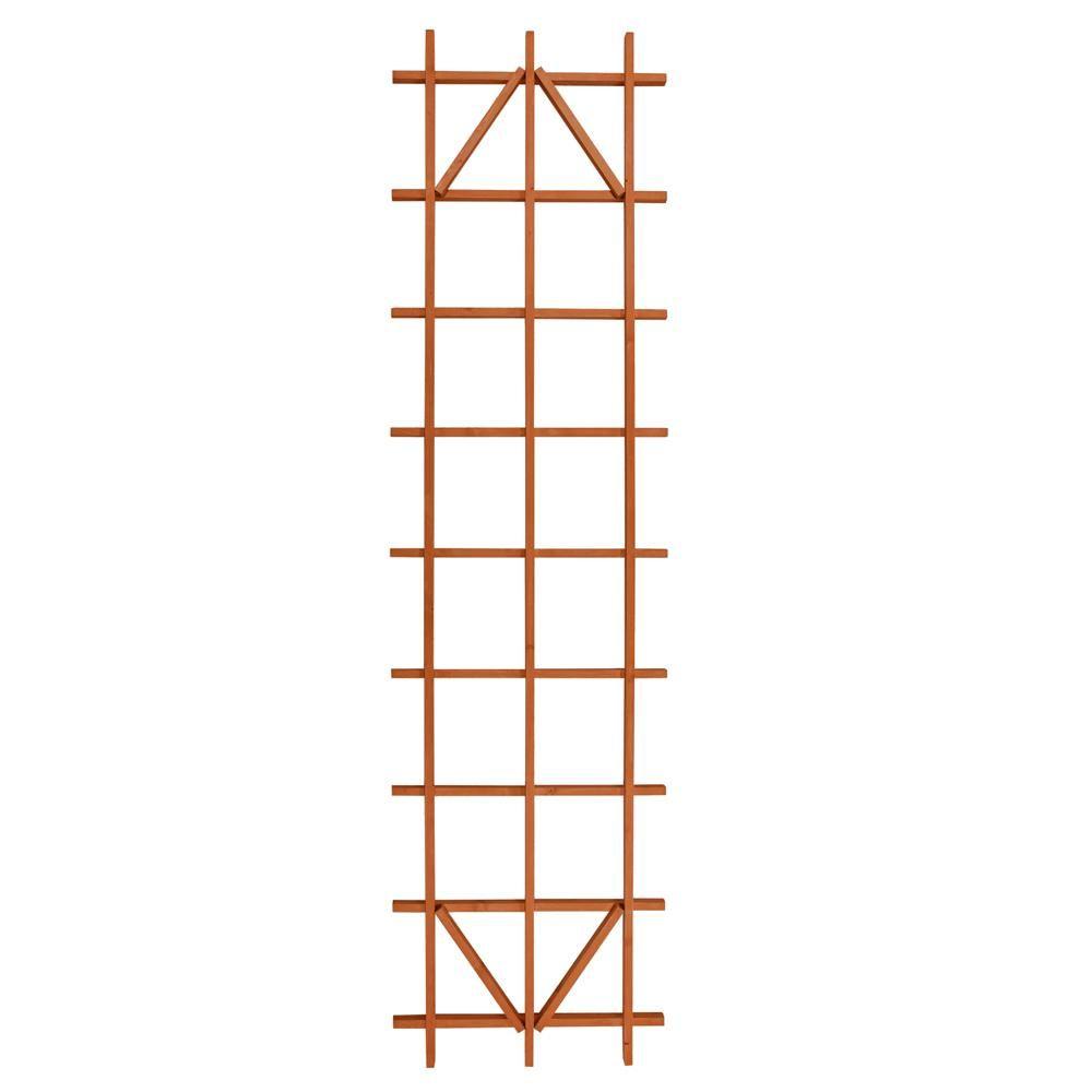 Outdoor Essentials 90 In Wood Ladder Trellis 309169 The Home Depot In 2021 Ladder Trellis Wooden Trellis Trellis