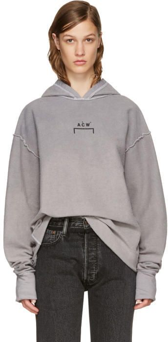 52f726a8 A-Cold-Wall* Reversible Grey Oversized Logo Hoodie #fashion #outfit # clothing #shopstyle #style #luxury