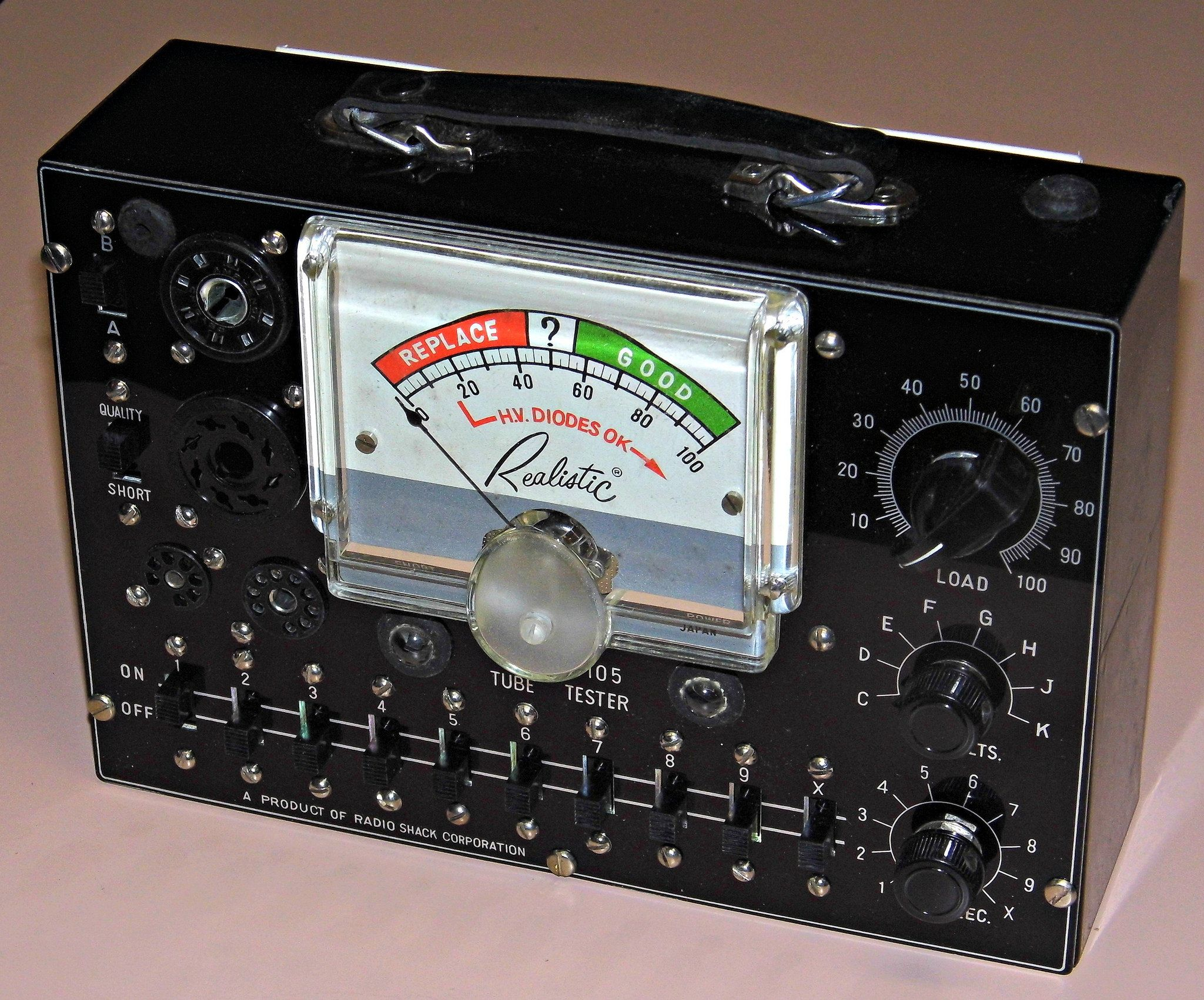 Vintage Realistic Model 105 Tube Tester Sold By Radio Shack Made In Japan Circa 1955 Radio Shack Radio Retro Radios